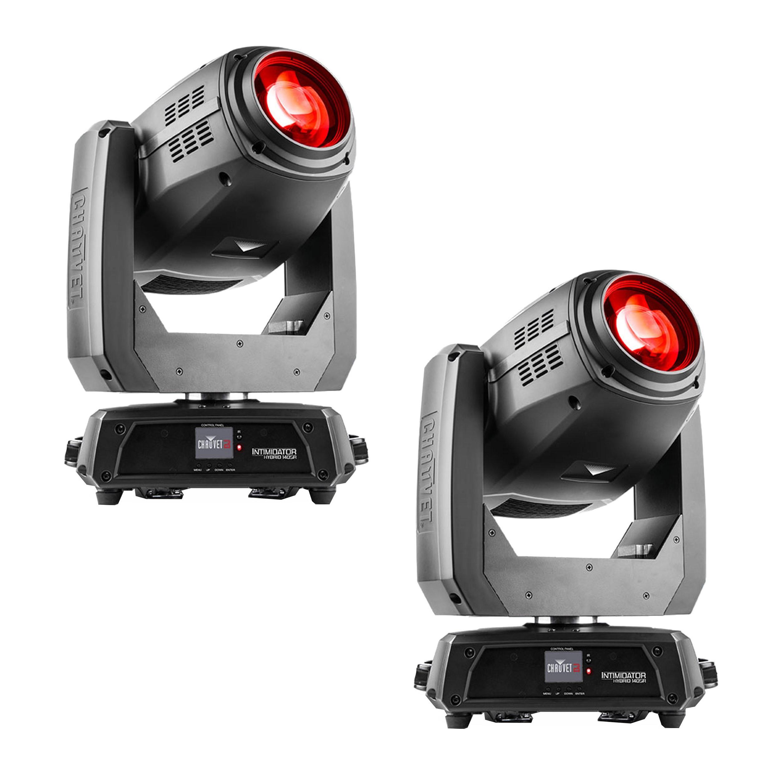 Details about chauvet dj intimidator hybrid 140sr moving head lights black 2 pack