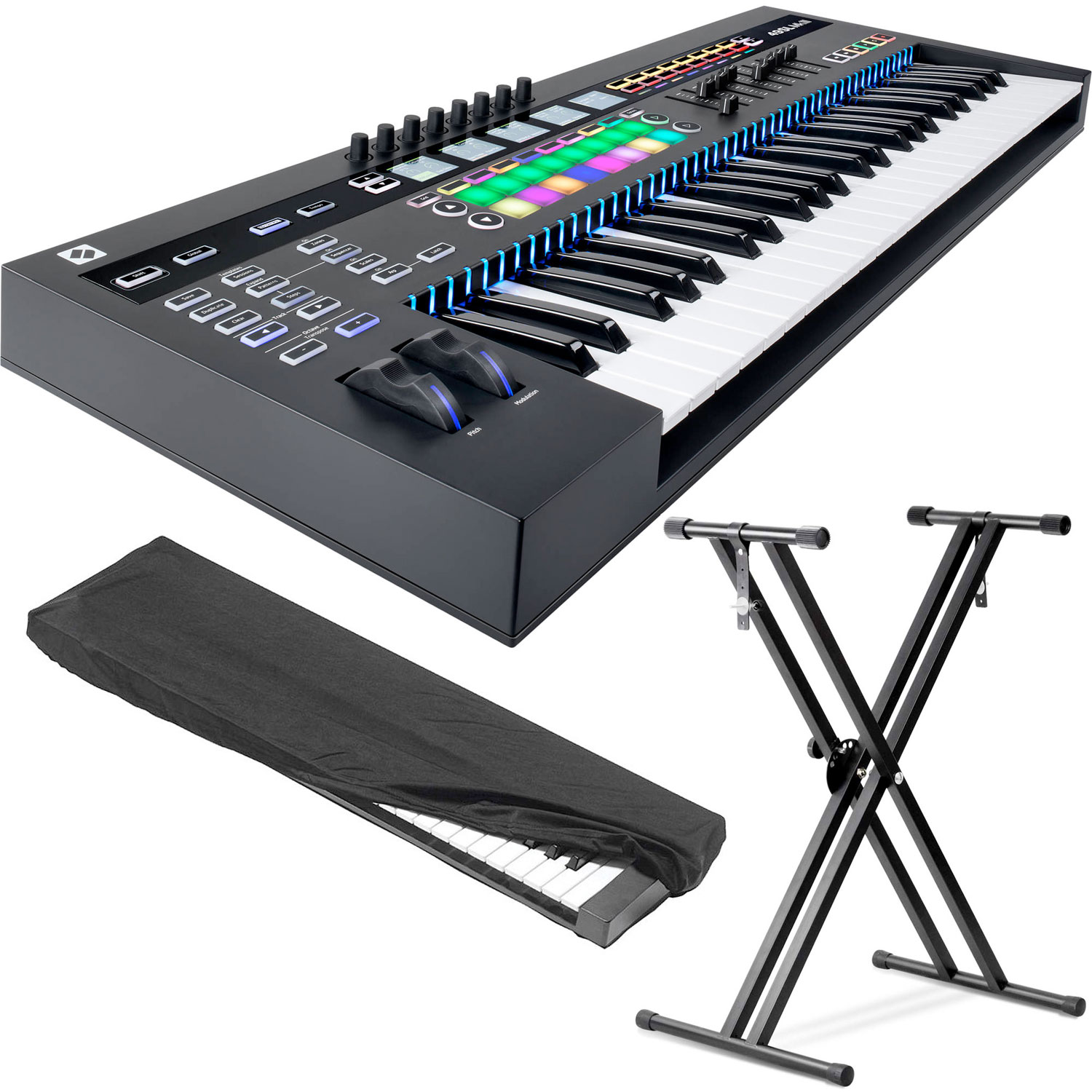 Details about Novation SL MkIII - MIDI 49-Note Keyboard Controller w/KKC-SM  Dust cover, Stand
