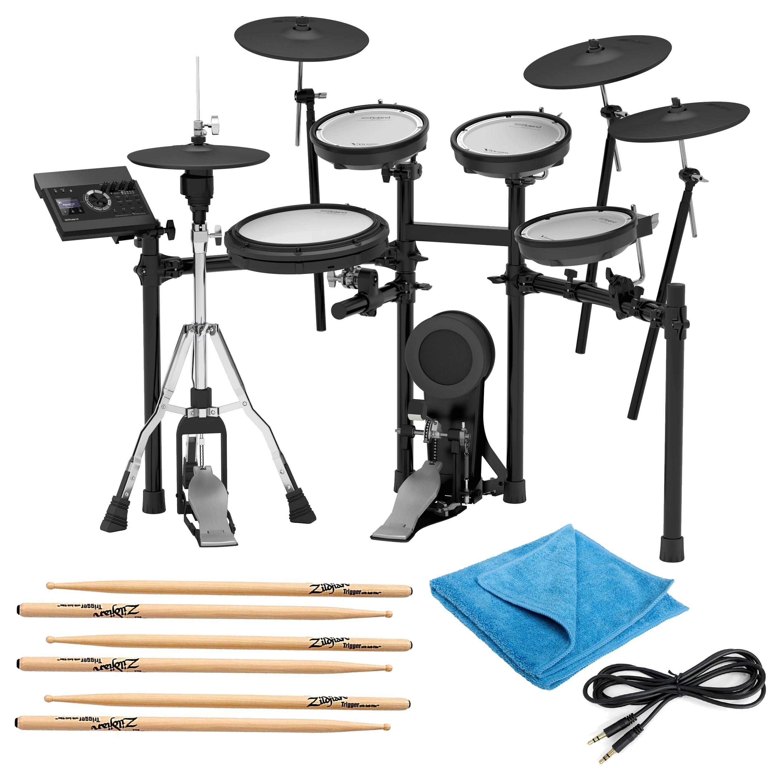 Details about Roland TD-17KVX Electronic Drum Set w/3 Pairs of Sticks,  Audio Cable & Cloth