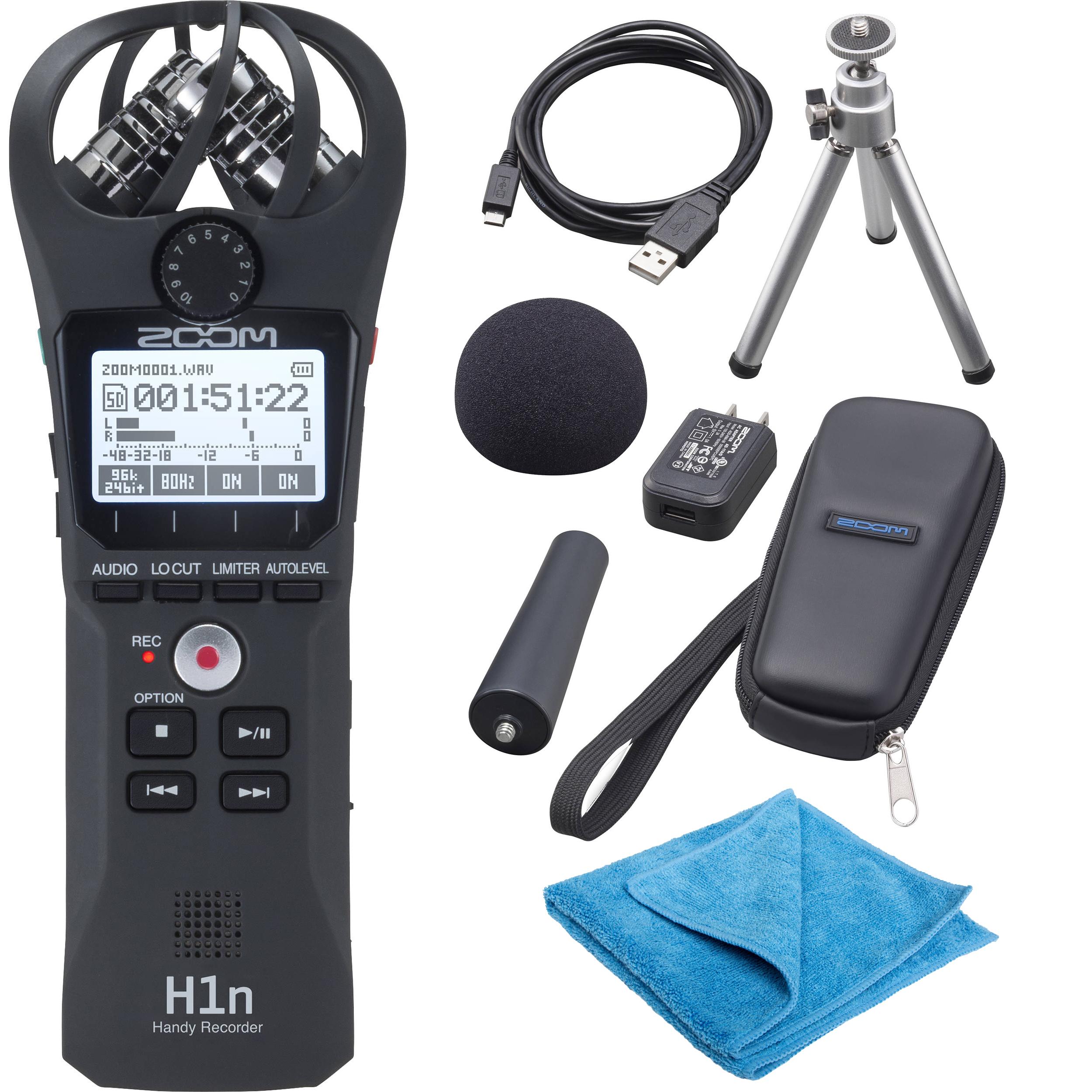 Zoom H1n Handy Recorder Bundle W Zoom Aph 1n Accessory Pack
